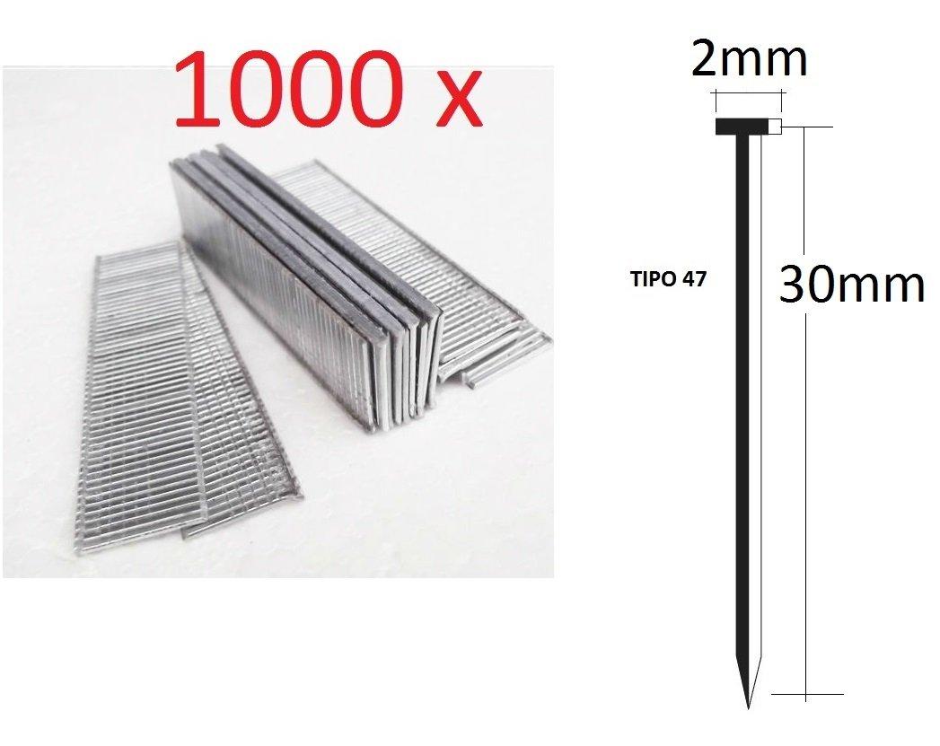Enviorapido Sachet de 1000Clous de 30mm pour agrafeuse électrique Parkside de qualité allemande type 47 ENVIO RAPIDO