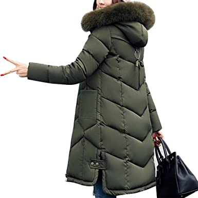 HANMAX Damen Mantel Wintermantel Daunenmantel Daunenjacke