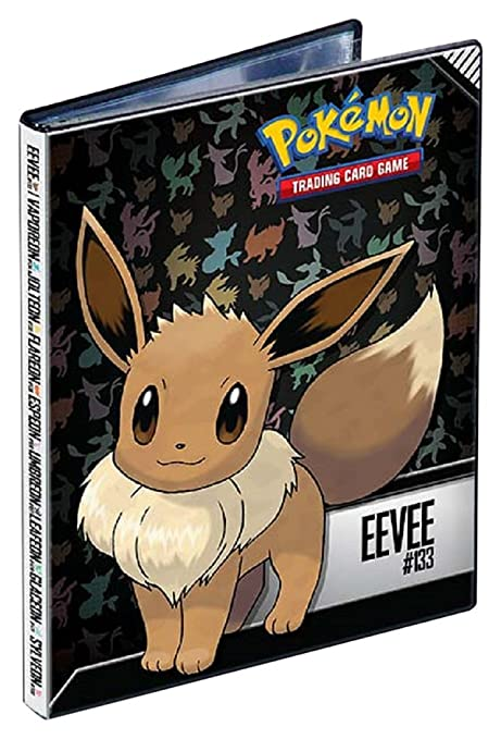 Asmodee- Eevee 4-Pocket Portfolio for Pokemon, Color (84918-P)