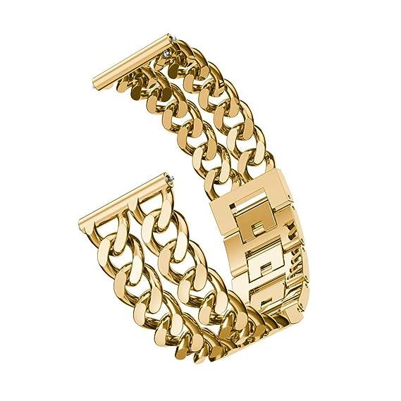 Geschenke F303274r Frauen Zu Weihnachten.Zweireihige Cowboy Kettenlegierung Armband Fur Huawei Watch