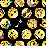 Emoji Fabric By the Yard Emoji Black Cotton Fabric By The Yard