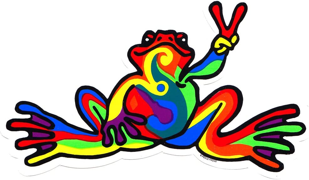 Stickers Peace Frogs