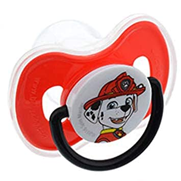 Amazon.com: Paw Patrol chupete con tapa – -Rojo/Marshal: Baby
