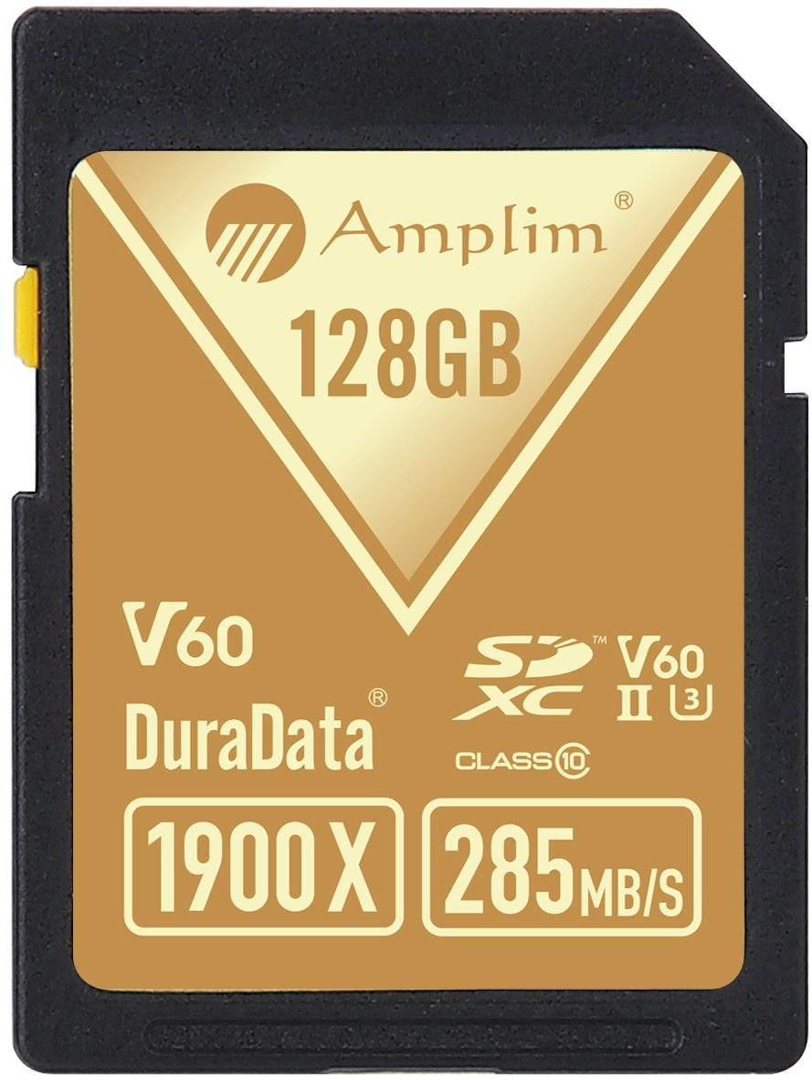 Amplim extreme high speed 32gb uhs-ii v90 sdxc sd card for 4k 8k uhd video camera camcorder 2 ultra high performance sd card: blazing speed 1900x (285mb/s) transfer rate. Twice the read speed of 1000x card. Newest sd association sd 5. 0 specs v60+ video rating provides 4k continuing shooting (other uhs-ii cards without v ratings are last generation sd 4. 0 cards). Top rated uhs-ii u3 class10 pro extreme turbo fast high capacity sd card for latest uhs-ii sdxc (sd xc) compatible cameras, accessories, usb-c sd card reader, microsoft surface book 2 and super fast 3d hdr 360 4k dslr and 3d professional photographer memory card: 32, 64 128 and 256 gig uhs-ii high capacity cards for dslr and mirrorless uhs-ii video cameras (sony, fuji, leica, nikon, olympus, panasonic, samsung). Sony alpha a9 a7 a7r mark iii sf card cyber-shot rx1r ii; fujifilm fuji x-t1 x-pro2 x-t2 gfx 50s x-h1 x-e3; leica sl type 601 m10; nikon d850 d500 fx; olympus om-d e-m5 ii om-d e-m10 ii iii pen-f om-d e-m1 mark ii; panasonic lumix dc-g9 gh5s gh5 gh4; samsung nx1; black magic ursa; support all uhs-ii devices backward compatible with uhs-i cameras (note: speed of uhs-ii card will be limited by the uhs-i sd slot): sony cyber-shot dsc w800 w830 dsch300 alpha a7r ii dsc-rx10 iv a6500 a9 a6300 a99 ii; canon powershot sx720 sx730 sx530 hs elph 180 190 is g7 x 5d mark iv iii ii eos 80d 5ds r rebel t7i t6 t5 kiss x70 x9 x9i 1300d 1200d m100 sl2 200d m56d m10 m677d 9000d 800d; nikon coolpix l32 l340 b500 d3400 d5300 d3300 d750 d7200 d7500 d5600