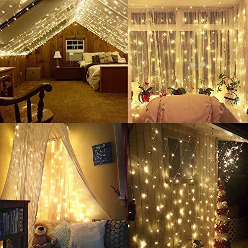 Foccoe 20 m 200LED Codena de Luces de Navidad con 8 Modelos de Iluminación para la Decoración de Fiestas y Bodas,...
