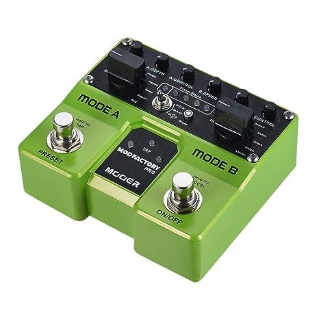 Muslady MODFACTORIO MOOER Módulos Pro Dual Modulación Pedal de Efectos de Guitarra 16 Efectos de Modulación Función Tap Tempo con Pedales dobles: Amazon.es: ...