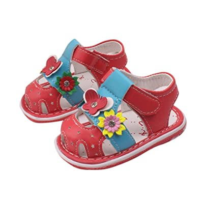 9cbed3eb9a772 Amazon.com | FEITONG Toddler New Flowers Girls Sandals with Sound ...