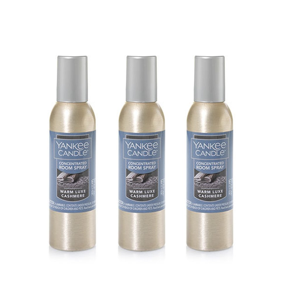Yankee Candle Concentrated Room Spray 3-Pack (Warm Luxe Cashmere)