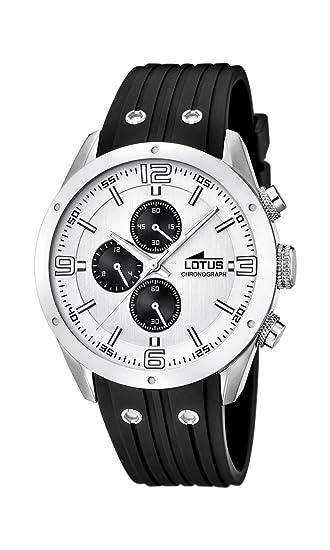 Lotus 15969 1 - Reloj de Pulsera con cronógrafo para Hombre (Mecanismo de  Cuarzo 289e8a8957d5