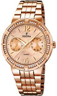 Festina F16702/2 - Womens Watch, Stainless Steel placcato, color: Oro rosa