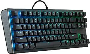 Cooler Master Teclado mecánico para juegos CK530 Tenkeyless con interruptores rojos, retroiluminación RGB, controles On-The-Fly y placa superior de ...