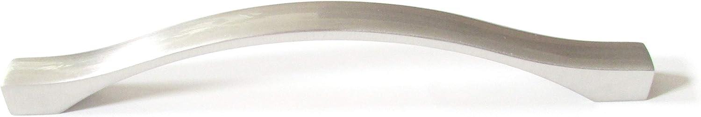 "HandleMax 6"" Satin Nickel Kitchen Cabinet Dresser Drawer Handle Pull Knob Hardware, 128mm (5"") Hole Centers, 57SN128, 25 Pack"