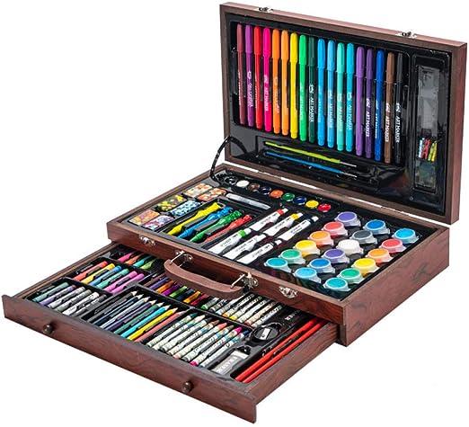 Set de Dibujo, 123 Sets de Pintura, Caja de Madera Infantil Herramientas de pupila Niños, Principiantes: Amazon.es: Hogar