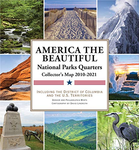 National Parks Commemorative Quarters Collector's Map 2010-2021 (includes both mints!) ()