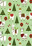 Dolly Llama Christmas Holiday Gift Wrap Rolled - 24'' x 15'