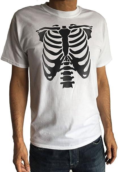 Irony Camiseta Blanca de los Hombres El Esqueleto deshuesa ...