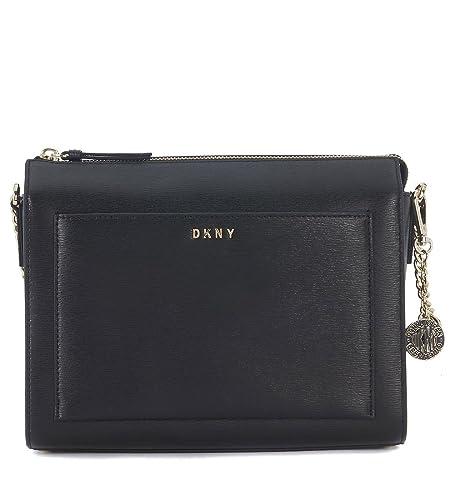 11e2eaff6757 DKNY black saffiano leather shoulder bag  Amazon.co.uk  Shoes   Bags