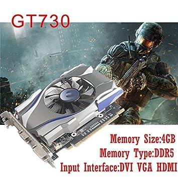 Rabusion GT730 - Tarjeta gráfica (4 GB, GDDR5, 128 bits, PCI ...