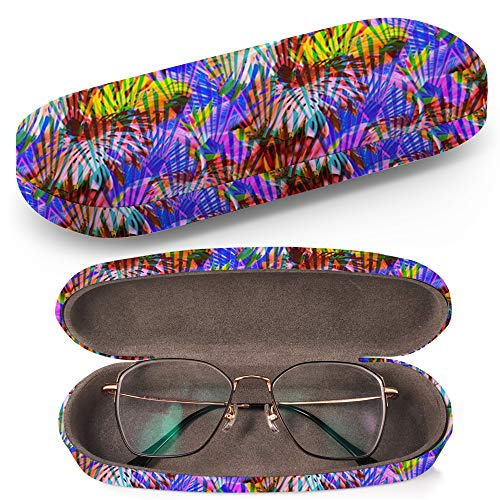 Hard Shell Glasses Protective Case Box + Cleaning Cloth - Fits most Eyeglasses and Sunglasses (Floral Clip ()
