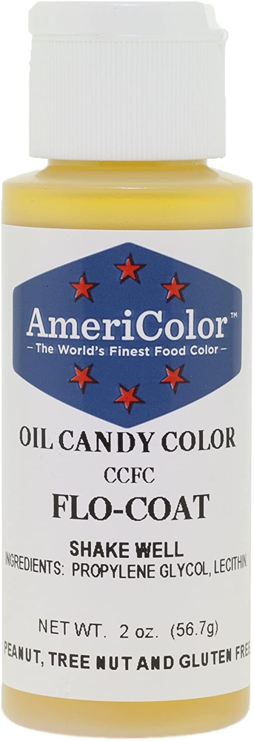 Americolor Candy Oil - Flo-Coat, 2-Ounce, Clear by AmeriColor