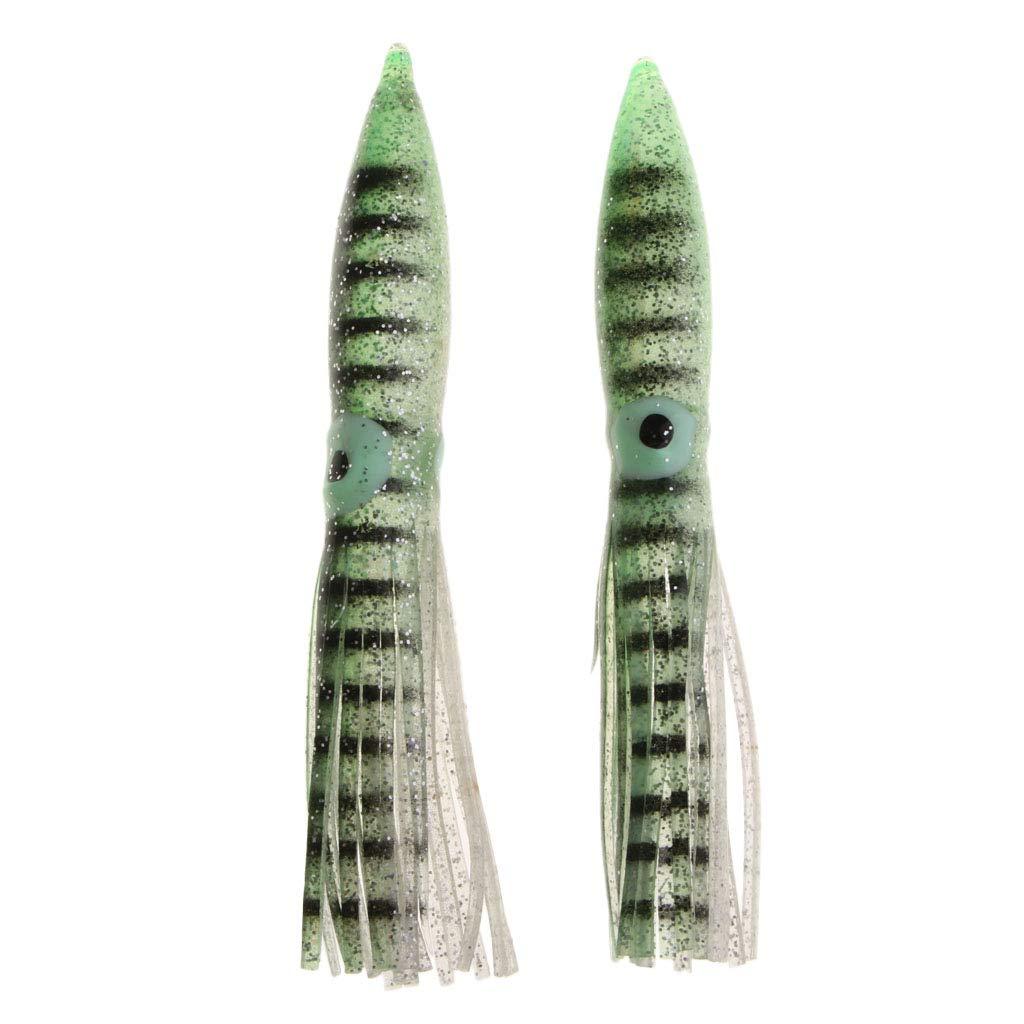 5 G PVC Pesca Calamar Se/ñuelos Se/ñuelo De Cebo para Agua Dulce O Salada Toygogo 2 Piezas De Se/ñuelos De Pulpo Suave 11 Cm