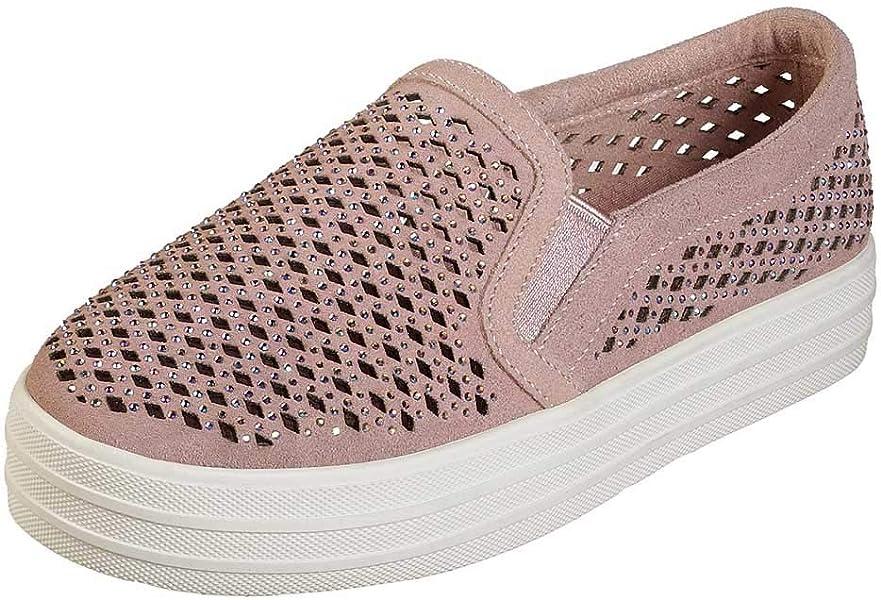 820544d32a6 Skechers Womens Double Up - Diamond Girl Light Pink Sneaker - 5