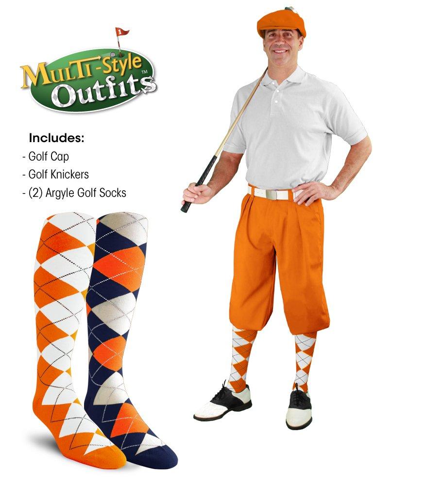 ゴルフKnickers multi-style Outfit – メンズ – オレンジ B07BRLQJR5 42|オレンジ オレンジ 42
