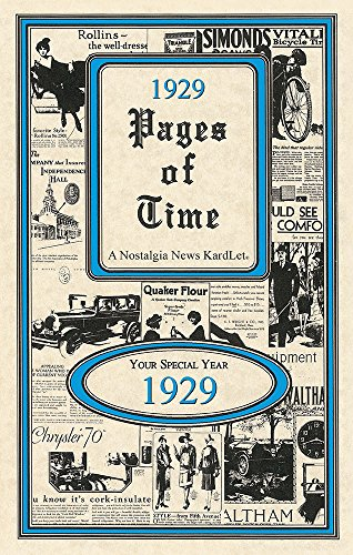 1929 Pages of Time 24 Page Trivia Booklet with Envelope