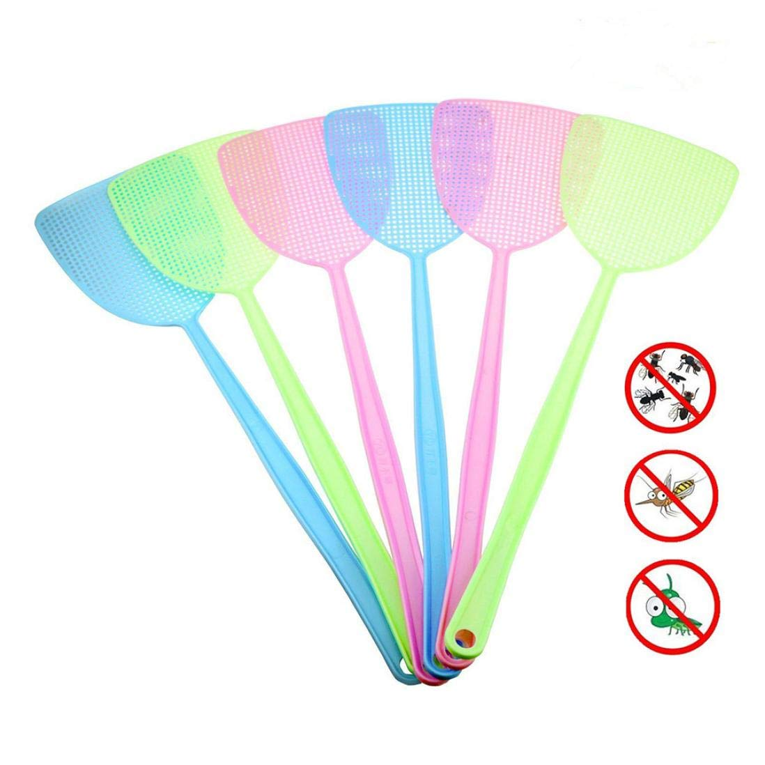 Plastic Manual Swat Pest Control Fly Swatters Heavy Duty Insects Spiders Inkach Flyswatter Blue Bugs Fly Killer