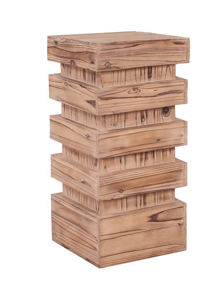 Howard Elliott 37129 Stepped Pedestal Table, Medium, Natural Wood
