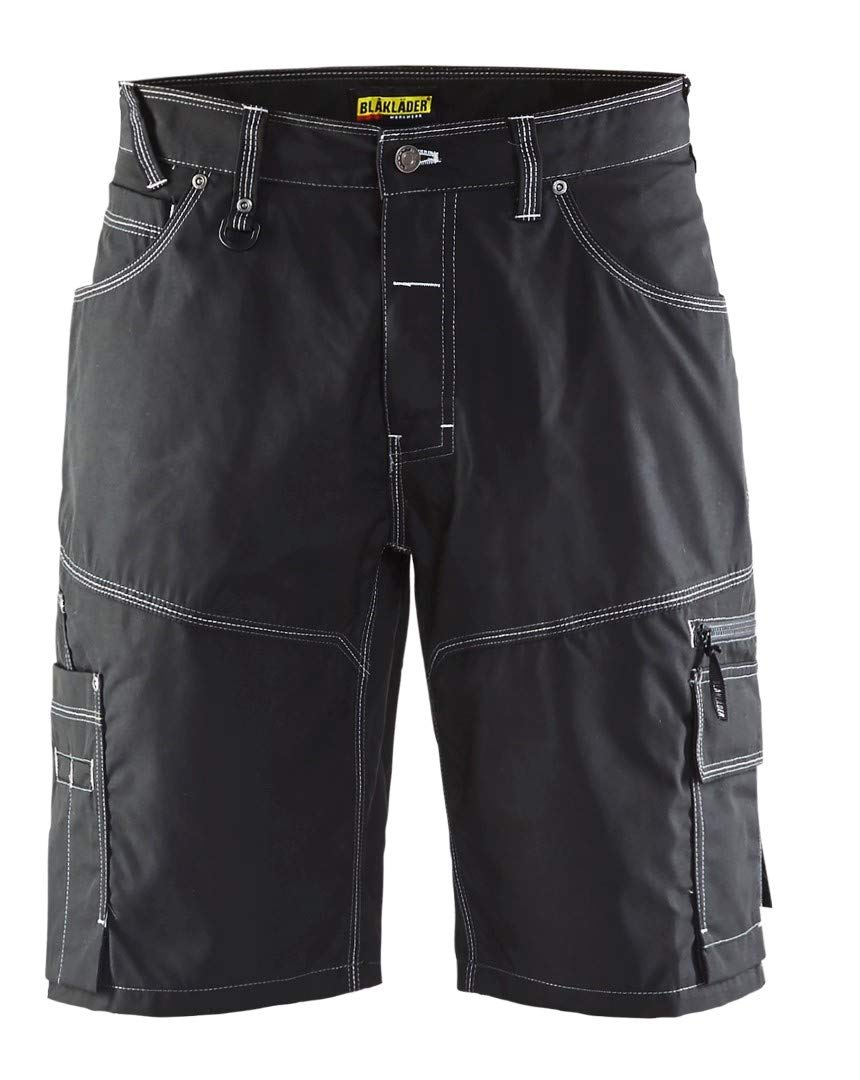 Blaklader 195718459900C52 X1900 Urban Shorts, Size 36/32, Black