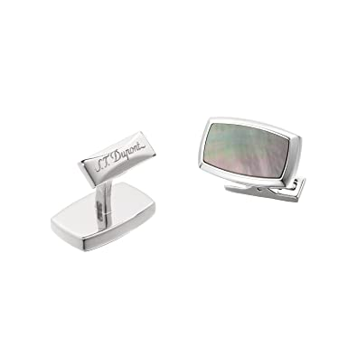 S.T. Dupont Cufflinks for Men, Silver, Stainless Steel, 2017, One Size
