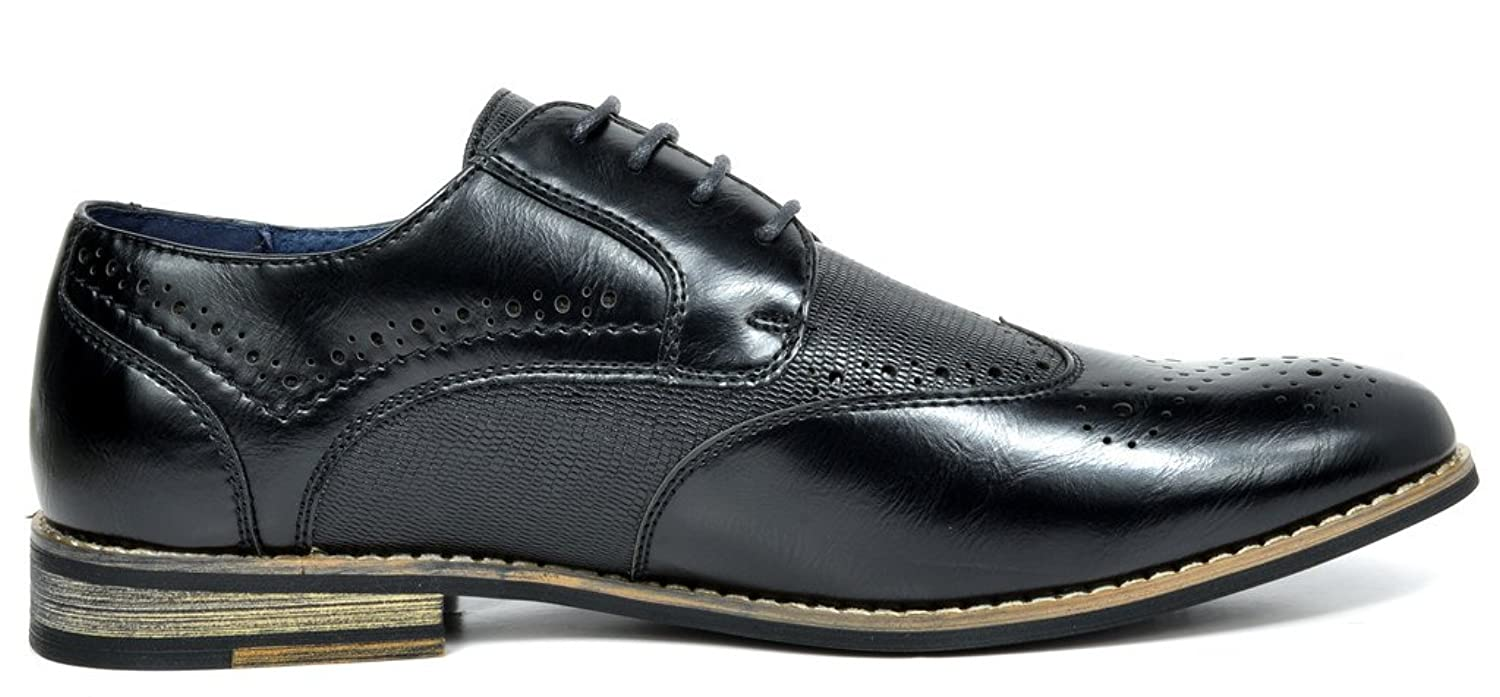 Bruno MARC FLORENCE Men's Oxford Modern Classic Brogue Lace Up Leather  Lined Perforated Wing-tip Dress Oxfords Shoes: Amazon.ca: Shoes & Handbags