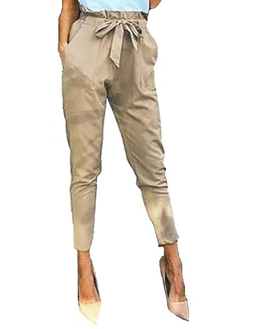 StyleDome Mujer Pantalones Pitillo Oficina Moda Elegantes Bolsillos ...