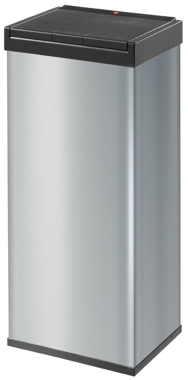 Hailo Big-Box Touch XL, Mü lleimer, 52 Liter, One-Touch-Deckelö ffnung, Mü llbeutel-Klemmrahmen, made in Germany, 0860-601 9204015092 0860-601_silber-60Liter