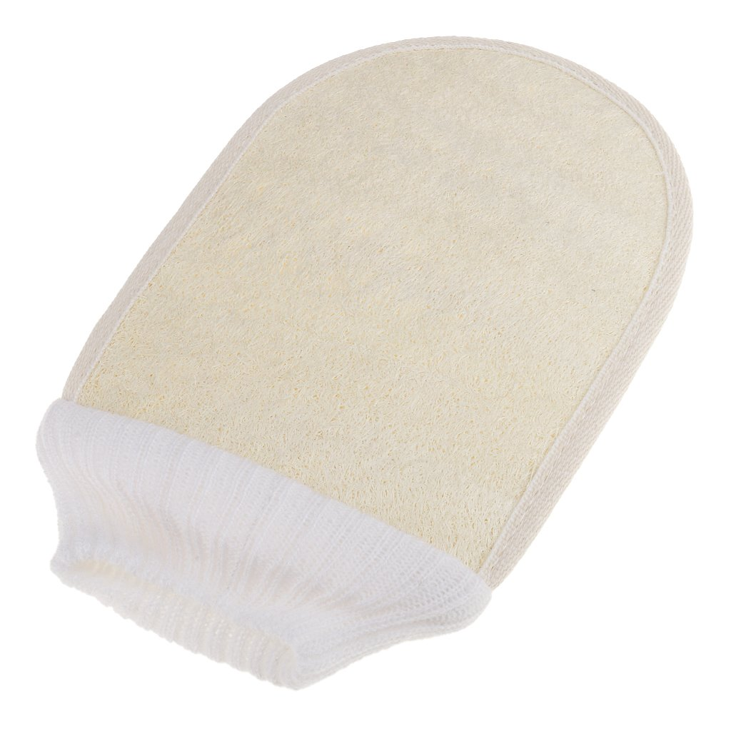 MagiDeal Natural Loofah Sponge Bath Massage Brush Body Cleaning Exfoliator Washing Glove Towel Wipe Beige