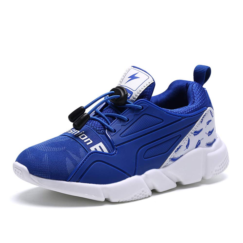 Kids Outdoor Sneakers Breathable Comfortable Casual Kids Running Shoes Boys Blue Size 9.5