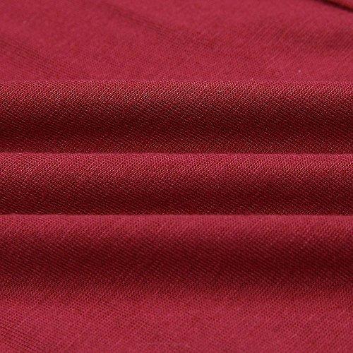 Robe de Longue Rouge Femme Femme Robe Col Robe V Robe Ete Femme Plage Couleur Weant Robe Chic Femme Femme pure Robe Soire de Cocktail Soire Robe de Femme qRf0Zt4x