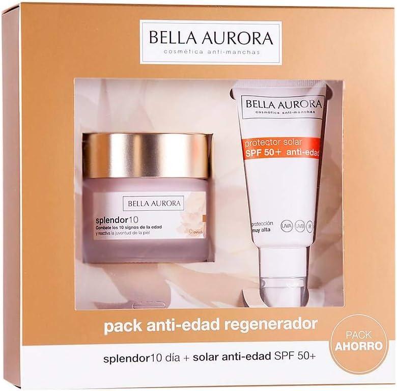 Bella Aurora Set De Crema De Día Anti-Edad y Protector Solar SPF 50+ Anti-Edad: Amazon.es: Belleza