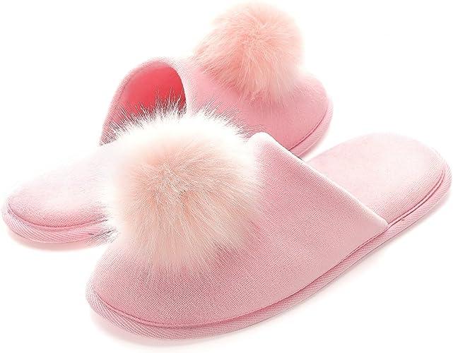 Pantofole Ragazze Peluche Casa Scarpe Bambini Invernali Slippers Ciabatte Aperta Pantofole Pelose Sandali Fluffy Infradito