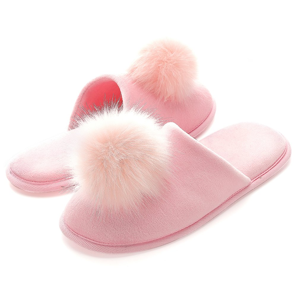 Womens' Slippers Home Comfort Cotton Memory Foam SPA Indoors Ultra Lightweight Soft Non-skid Machine Washable Slip on Bedroom Flat for Christmas Holiday Thanksgiving Back to College Dorm