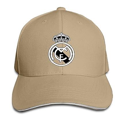 hittings Real Madrid C.F. Logo Football Club Adjustable Sandwich Gorra de béisbol Natural