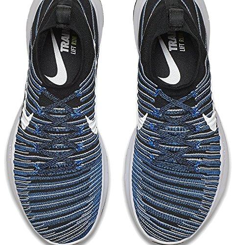 NIKE Mens Free Train Force Flyknit Running/Training Shoes Black/White-blue Glow xwhaEoq