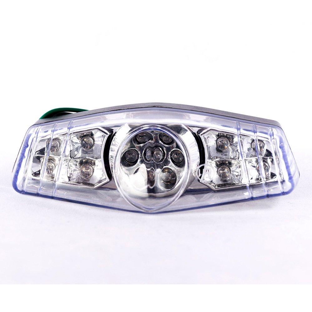 Universal Motorcycle Bike ATV 12V LED Rear Brake Stop Motorbike Tail Light License Plate Light Clean Lens