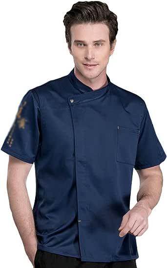 Dooxii Unisexo Mujeres Hombre Verano Manga Corta Camisa de Cocinero Transpirable Chaquetas de Chef Uniforme Cocina Restaurante Occidental: Amazon.es: Ropa y accesorios