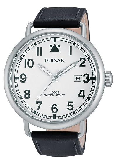 Pulsar PS9249X1 - Reloj de pulsera hombre, piel, color negro: Amazon.es: Relojes