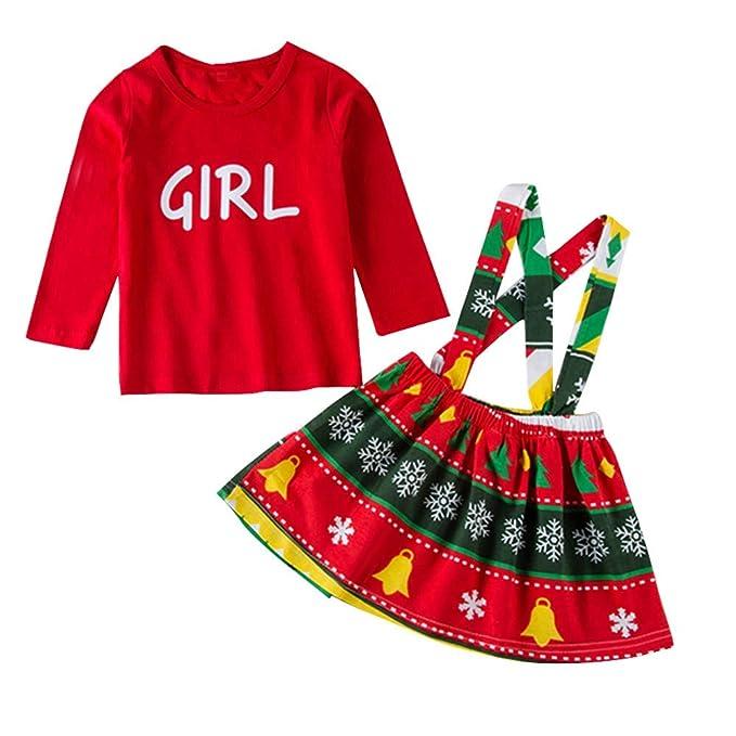 Xmiral 2Pcs Conjuntos de Camisata y Vestido de Peleles para Navidad: Amazon.es: Ropa y accesorios