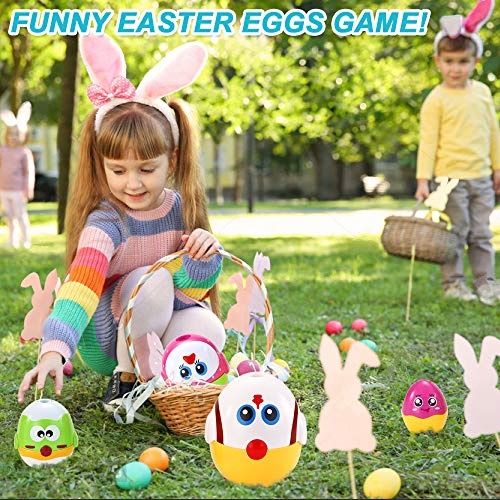 VATOS Nesting Easter Plastic Eggs Toy, Eggs Stacking Toy, Stacker Toys for 18 Months+ Baby Infant Toddler, Educational Toys for 1.5+ Years old Girl and Boys, Cute Chicken Family Style Baby Toddler Toy by VATOS (Image #4)