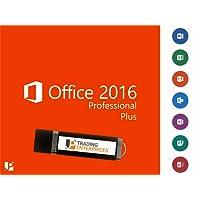 Microsoft Office Professional Plus 2016 32/64 Bit Original Lizenzschlüssel mit JP Trading Enterprises USB-Stick Geschützte Marke