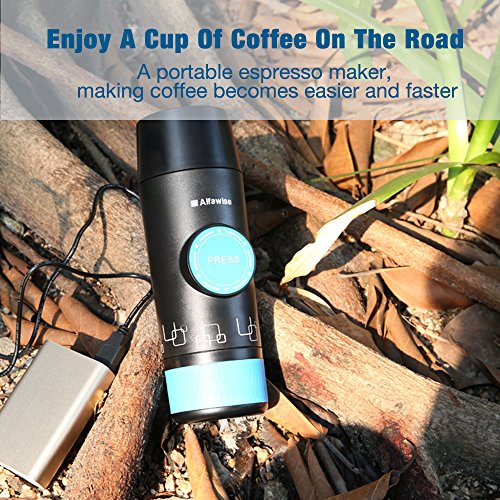 Alfawise Camping Espresso Portable and Non Elctric, Perfect Gift for Camping ,Hiking ,Home and Outdoor